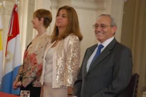 Alicia Pregno junto al presidente del TSJ en la apertura del año judicial PRENSA LEGISLATURA