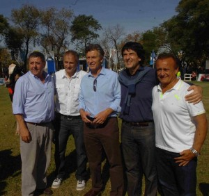 Macri y equipo Mercoláctea