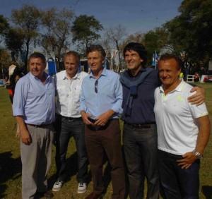 Macri se mostró con referentes de su partido en Mercoláctea