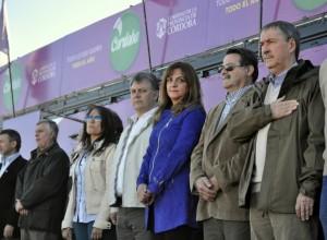 Pregno con reclamo a la Nación, inauguró Expo La Carlota