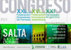 XXI Congreso Farmacéutico Argentino, en Salta