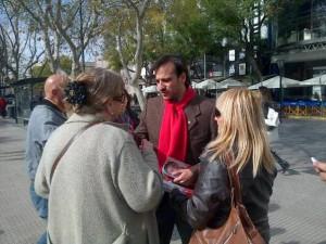 En campaña: Mestre (Diego) destacó proyecto radical con miras al 2015