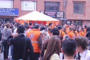 Simulacro de evacuación por inundación en barrio San Vicente