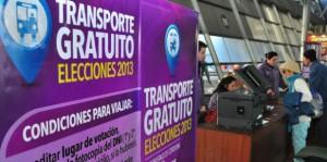 Servicio interurbano: Pasaje gratuito para ir a votar