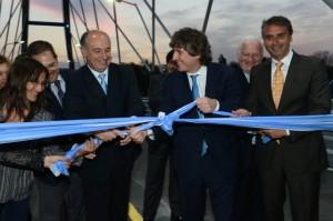 Boudou y Accastello puente inauguracion