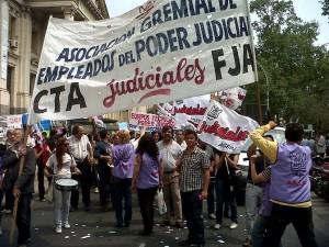 Conflicto por porcentualidad: Judiciales cumplen primera jornada de paro de 48 horas