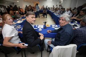 CFK con Caló (CGT oficialista) y Binner con Moyano (CGT Azopardo)