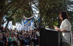 CFK en El Calafate Acto lago Argentino 1