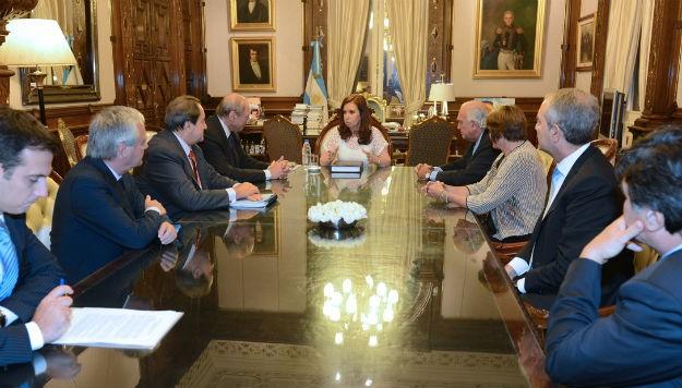 CFK y miembros de la Comisión de reforma del codigo penal