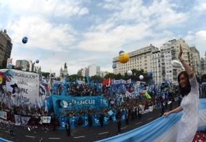 CFK apertura de sesiones 2014 Plaza