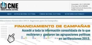 informe de campaña CNE