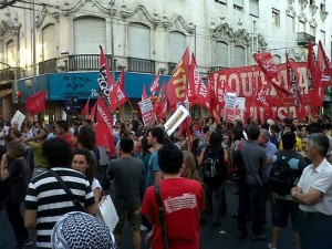El Frente de Izquierda con movilización y acto para defender los puestos de trabajo