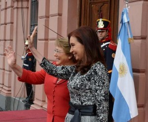 CFK y Bachelet 12 de mayo