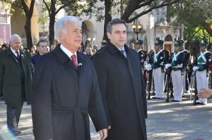 De la Sota y Mestre se mostraron juntos en el acto por los 441 años de la Ciudad