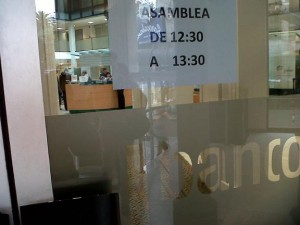 cartel asamblea bancor