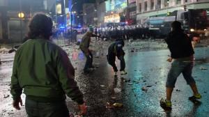 """Polémica: Cruces de acusaciones por la """"seguridad"""", tras los incidentes en el obelisco"""