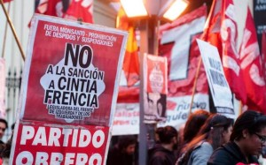 partido obrero manifestación despidos y frencia