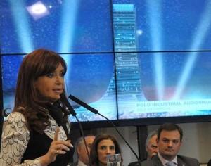 Mensaje  de CFK (en Cadena) con cuestionamientos al rechazo de la oposición a la ley de pago soberano