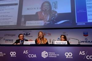 La ministra Débora Giorgi expuso en el Council de las Américas