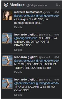 twitteros contra De Loredo