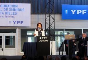 Acto CFK en Las Heras YPF