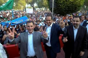 Scioli desembarcó en San Luis para firmar acuerdo con intendente e inaugurar local de campaña