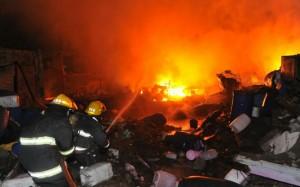 incendio y explosión alta cordoba