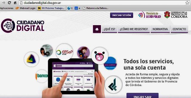 pantalla plataforma Ciudadano Digital