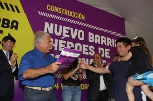 DLS entrega viviendas para veternaos de malvinas