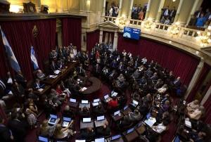 Última sesión del Senado con polémico proyecto oficialista del Parlasur