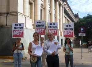 """Los candidatos del MST con planteo ante la Justicia para frenar """"boletazo"""" de Mestre"""