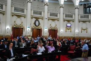 sesion unicameral ley confiamos en vos