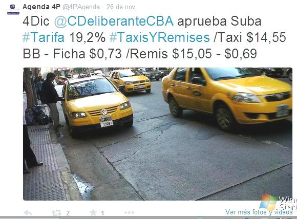 taxis y remises twitter tarifa