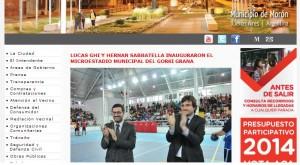 web municipio de Moron