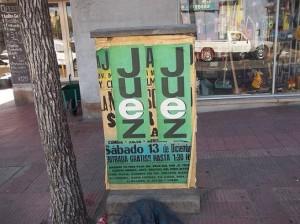El ranking de afiches políticos en lugares prohibidos, lo encabeza Juez, seguido (lejos) por De la Sota
