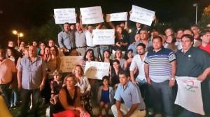 Massismo local dio muestra de apoyo a la causa del fiscal Nisman