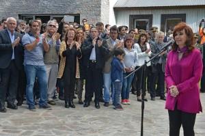 CFK en El calafate acto 14 feb