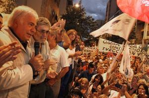 Habla DLS acto movimiento obrero 69 años Peron