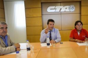 Tras reunión con Micheli (CTA), Massa insistió en eliminar Ganancias y pidió revisar contratos políticos de La Campora
