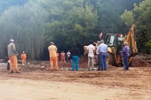 Rio-Ceballos trabajos en zona afectada
