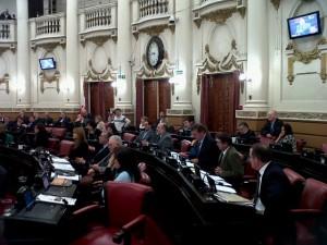 Sesión legislatura bloques UCR y FC
