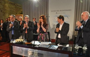 CFK convenio con FAA Anuncio