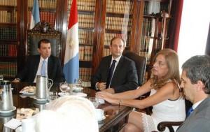 La Vicegobernadora  dialogó con las nuevas autoridades  momentos antes de la asunción PRENSA LEGISLATURA