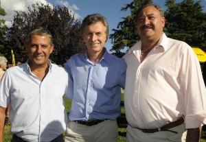 Macri con Pechi Quiroga y Bortolatto
