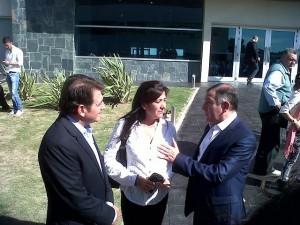 La fórmula para el tramo Senadores, Luis Juez y Laura Rodríguez Machado junto a Daniel Juez (1er. Legislador)