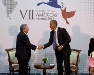 castro y obama cumbre de las americas