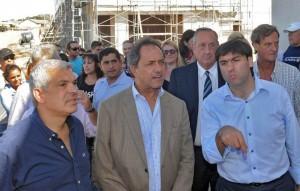 En Viernes Santo, el presidenciable bonaerense del FPV, se mostró junto a Domínguez y Bossio