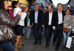 Macri, Sanz y Morales