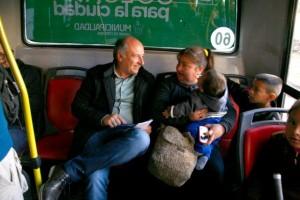Elecciones: Subido al bondi, Accastello insistió con boleto a $3