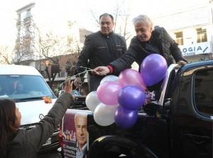 En campaña por territorio macrista, De la Sota afirmó que duplicará la AUH